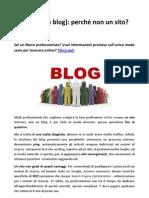 Creare un blog  - Perchè non un sito
