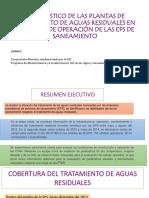 DIAGNÓSTICO DE LAS PLANTAS DE TRATAMIENTO DE AGUAS RESIDUALES EN EL ÁMBITO DE OPERACIÓN DE LAS EPS DE SANEAMIENTO