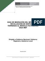 Guia de Migración Del Módulo de Revaluación de Edificios y Terrenos Al Módulo Patrimonio Siga Mef