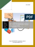 actividad integradora  Fuerza y cargas electricas