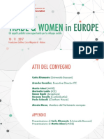 "Atti del convegno ""Trade and Women in Europe"" (Milano, 10 novembre 2017)"