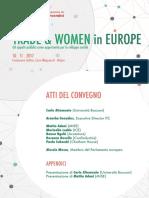 """Atti del convegno """"Trade and Women in Europe"""" (Milano, 10 novembre 2017)"""