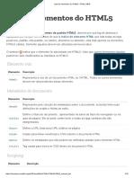 Lista de Elementos Do HTML5 - HTML _ MDN