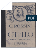 Gioacchino Rossini - Otello - Vocal Score