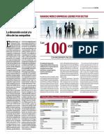 Las 100 Empresas Lideres de Mayor Reputación Por Sector 2017