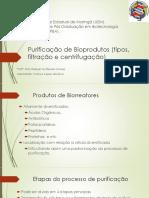 Purificação de Bioprodutos (Tipos, Filtração e