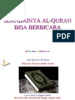 ya Al-Quran Bisa Berbicara