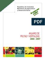 Anuario Estadistico Frutas y Hortalizas 2003-2007, Colombia