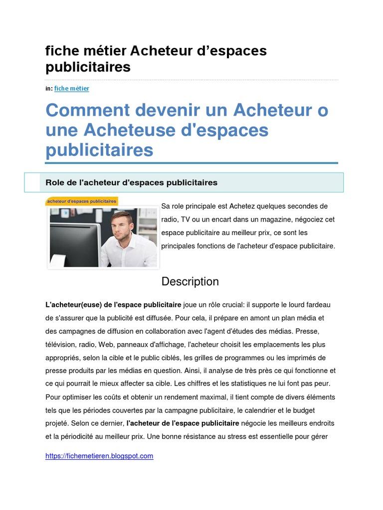 Fiche Métier Acheteur d Espaces Publicitaires e1827ddeaab