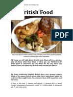 British Food Discussion Lesson Clt Communicative Language Teaching Resources Conv 102721