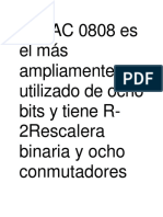 El DAC 0808 Es El Más Ampliamente Utilizado de Ocho Bits y Tiene R