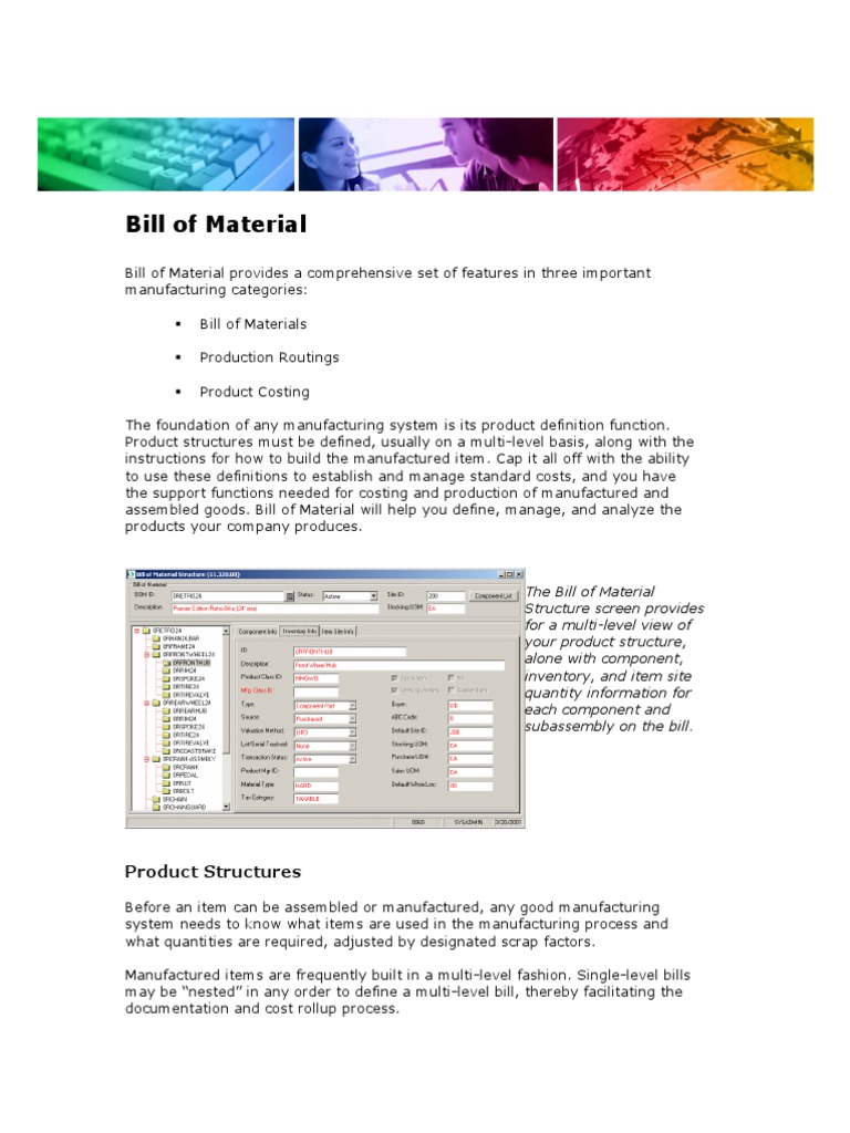 what is a bill of materials