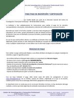 Instrucciones Para Pago Infop