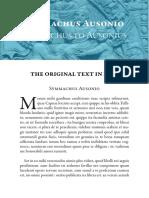 Symmachus Welcome Letter Latinitium.com PDF