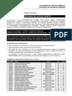 Convocados 2a fase Residencia médica UNICAMP