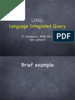 Presentation Linq Stc