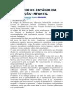 Exemplo de Relatório de Estagio Em Educaçao Infantil