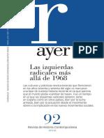 Revista Ayer 92. Las izquierdas radicales más allá de 1968