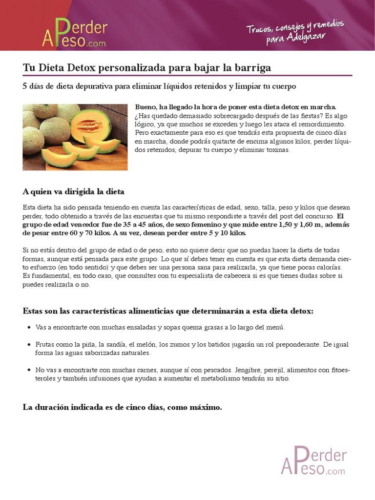dieta detox 21 días pdf