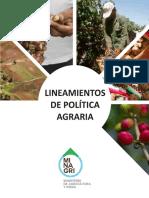 Lineamientos de Politica Agraria