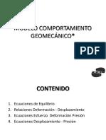 Clase 16 Modelo de Comportamiento Geomecánico