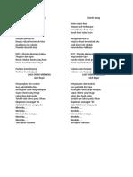 Lagu untuk saat OSPEK MERDEKA.doc
