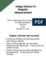 Week-6 Angular Measurement Metro 27-10-2011