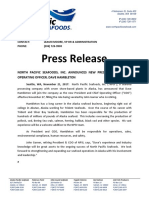 North Pacific Seafoods press release