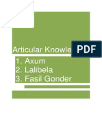 Articular Knowledge