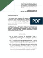 24-11-17 DICTAMEN DE LAS COMISIONES UNIDAS DE JUSTICIA A LA INICIATIVA CON PROYECTO DE DECRETO QUE DEROGA EL ART. 158 DEL CÓDIGO CIVIL FEDERAL.