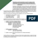 Acta de Elección y Conformación Del Comité de Seguridad y Salud en El Trabajo Para El Proyecto
