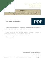 Aula 01 - Textor Opinativo (Ponto de Vista Do Autor). Estruturação Do Texto Relações Entre Ideias; Recursos e Coesão