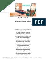 A Un Poeta, de María Natividad Cortés