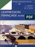 Abbadie C., Chevelon B., Marsel M.-expression Française Écrite Et Orale-Presse Universitaire de Grenoble (2002)