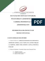 Formato Informe Final Proyecto Proyección Social