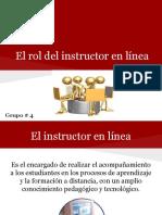 El Rol Del Instructor en Línea Para El Aprendizaje Autónomo - Grupo 4