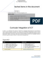 TIC [2017.11.12] 4.2. Curricular Integration of ICT - Team 01
