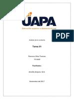 Análisis de La Conducta - Tarea 01