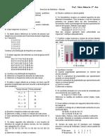 Exercícios de Estatística 2