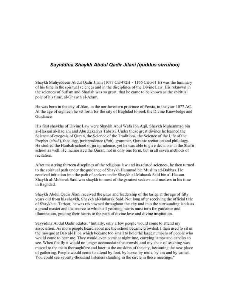 The Secret Of Secrets Abdul Qadir Jilani Pdf Download