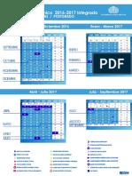 Calendario 2016 2017 Usb