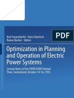 Optimization in Planning and Operation of Electric Power System