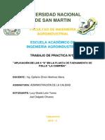 INFORME DE PRÁCTICAS N°1 LAS 6S