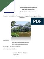 Estudio de Viabilidad de Un Puente Peatonal en Juigalpa Chontales 2017