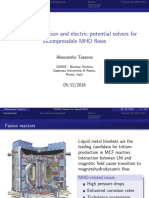 Magnetic Induction and Electric Potential Solvers for Incompressible MD Flows