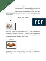 Alimentación Sana/Nutricion