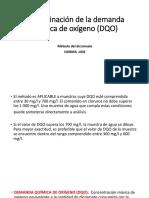 Determinación de la demanda química de oxígeno (.pptx