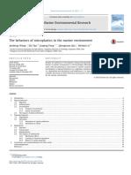 Behaviors of Microplastic in Marine Life Paper