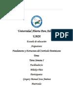 Tarea Semana I Fundamento y Estructura del Curriculo Dominicano.docx
