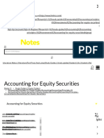 Accounting for Equity Securities